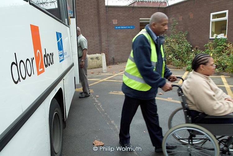 Door to Door transport service at Lewisham Day Centre, Deptford