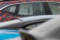 Pictured: #OGymru hashtag on a brand new Aston Martin DBX. Friday 21 February 2020<br /> Re: HRH Prince Charles visits the Aston Martin Lagonda factory in St Athan, south Wales, UK.