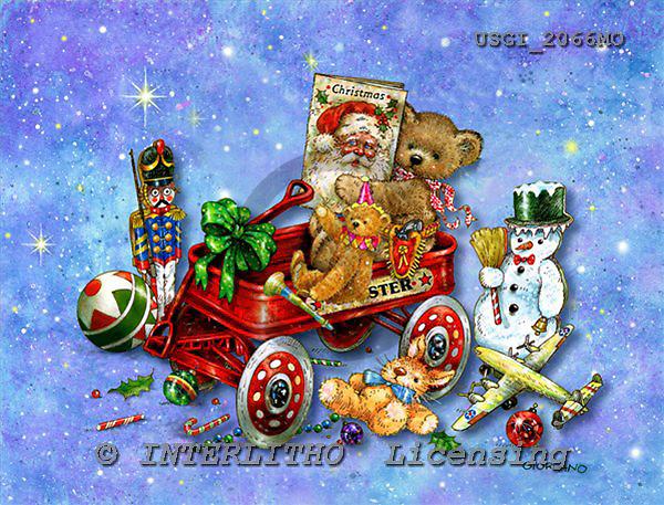 GIORDANO, CHRISTMAS ANIMALS, WEIHNACHTEN TIERE, NAVIDAD ANIMALES, Teddies, paintings+++++,USGI2066MO,#XA#