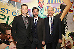 Michael Oberholtzer, Josh Radnor and Frank Wood attends the press reception for the Opening Night of the Lincoln Center Theater Production of 'The Babylon Line'  at the Mitzi E. Newhouse Theatre on December 5, 2016 in New York City.