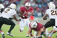 STANFORD, CA - The Stanford Cardinal defeats Arizona State 42-28 at Stanford Stadium.