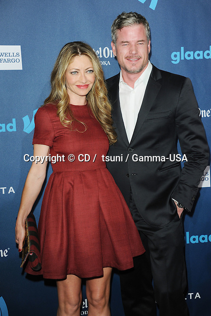 Rebecca Gayheart and Eric Dane arriving at the  24th Annual GLAAD Media Awards at the JW Marriott. in Los Angeles.