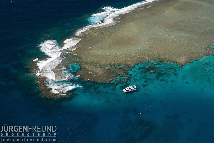 Aerial view of the Great Barrier Reef of the Agincourt Reefs off Port Douglas