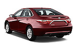 Car pictures of rear three quarter view of 2017 Toyota Camry 2.5-Auto-LE 4 Door Sedan Angular Rear