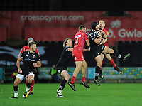 Ospreys' Dan Evans in action during todays match<br /> <br /> Photographer Ashley Crowden/CameraSport<br /> <br /> Guinness Pro14 Round 6 - Ospreys v Scarlets - Saturday 7th October 2017 - Liberty Stadium - Swansea<br /> <br /> World Copyright &copy; 2017 CameraSport. All rights reserved. 43 Linden Ave. Countesthorpe. Leicester. England. LE8 5PG - Tel: +44 (0) 116 277 4147 - admin@camerasport.com - www.camerasport.com