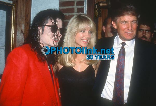 Michael Jackson Marla Maples Donald Trump 1992<br /> Photo By John Barrett/PHOTOlink
