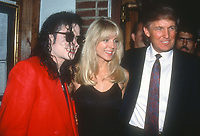 Michael Jackson Marla Maples Donald Trump 1992<br /> Photo By John Barrett/PHOTOlink