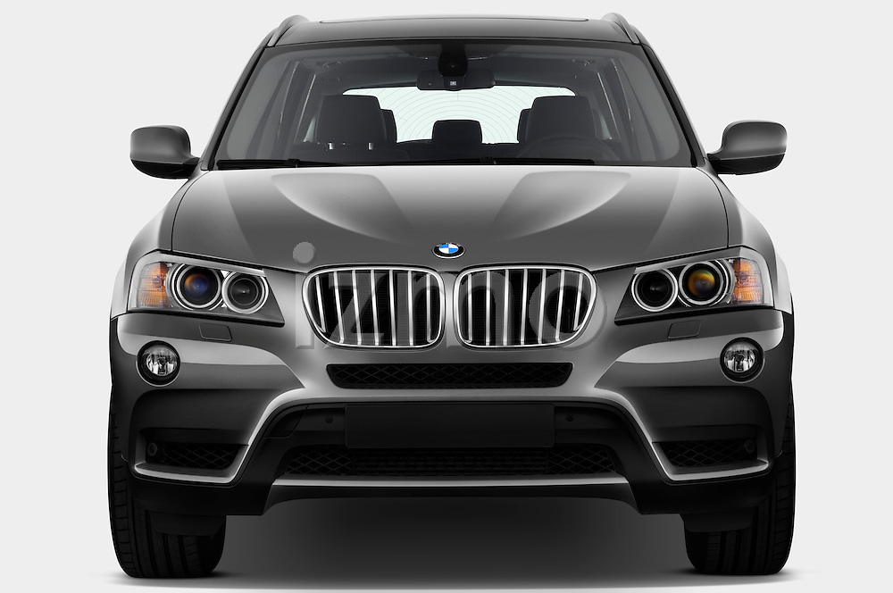 Straight front view of a 2011 BMW x3 xDrive35i SUV