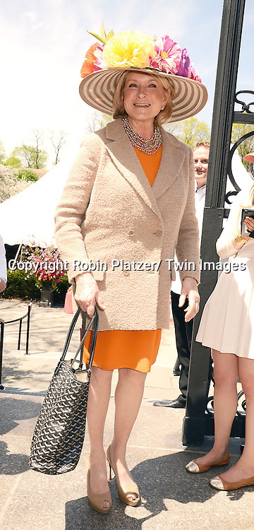 Martha Stewart attends the 32nd Annual Frederick Law Olmsted Awards Hat Luncheon given by The Central Park Conservancy on May 7,2014 in Central Park in New York City, NY USA.