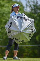 Brooke M. Henderson (CAN) prepares for some shade on the tee at 11 during round 3 of the 2018 KPMG Women's PGA Championship, Kemper Lakes Golf Club, at Kildeer, Illinois, USA. 6/30/2018.<br /> Picture: Golffile | Ken Murray<br /> <br /> All photo usage must carry mandatory copyright credit (&copy; Golffile | Ken Murray)