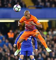 Fernandinho of Manchester City during the Premier League match between Chelsea and Manchester City at Stamford Bridge on April 5th 2017 in London, England<br /> Foto PHC Images / Panoramic / Insidefoto <br /> ITALY ONLY