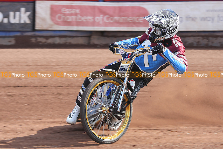 Kim Nilsson of Lakeside Hammers in racing action - Lakeside Hammers Speedway Press & Practice Day at Arena Essex Raceway, Purfleet - 20/03/12 - MANDATORY CREDIT: Gavin Ellis/TGSPHOTO - Self billing applies where appropriate - 0845 094 6026 - contact@tgsphoto.co.uk - NO UNPAID USE.