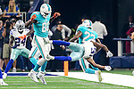 Dallas Cowboys free safety Byron Jones (31) and Miami Dolphins running back Isaiah Pead (22) in action during the pre-season game between the Miami Dolphins and the Dallas Cowboys at the AT & T stadium in Arlington, Texas.