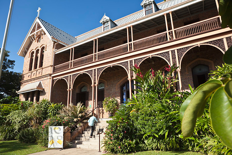 The James Cook Museum.  The historic building was built in 1889 as a convent.  Cooktown, Queensland, Australia