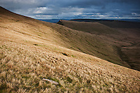 view towards Cribyn from near Pen Y Fan, Brecon Beacons national park, Wales