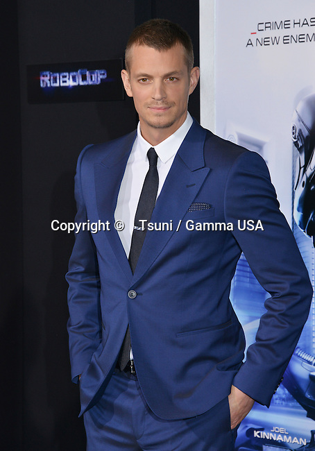 Joel Kinnaman  arriving at Robocop Premiere at the TCL Chinese Theatre in Los Angeles.