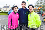 Joanne Lawlor, Gda Aidan O'Mahony and Sean Joy attending the cycle in the Ardfert NS on Sunday morning.