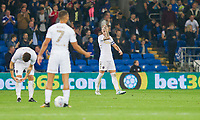 Liam Cooper of Leeds United looks dejected after his side concede their second goal during the Sky Bet Championship match between Cardiff City and Leeds United at the Cardiff City Stadium, Cardiff, Wales on 26 September 2017. Photo by Mark  Hawkins / PRiME Media Images.