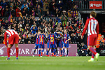 FC Barcelona's players celebrate goal during Spanish Kings Cup semifinal 2nd leg match. February 07,2017. (ALTERPHOTOS/Acero)
