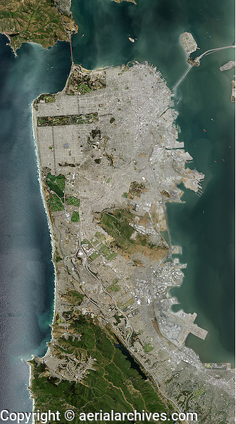 aerial photo map of San Francisco, California