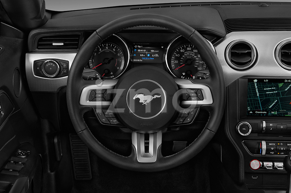 Car pictures of steering wheel view of a 2020 Ford Mustang EcoBoost 2 Door Convertible