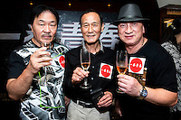 Launch of the MMA movie 'Fist of Youth' in Hong Kong. L to R Director Wang Lung Wei, Veteran martial arts actor Michael Chan Hui Man (also know as Chan Wai Man,Bruce Chen,Chen Hui Min) and friend