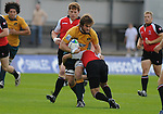 Ben McCalman is tackled by Canada's Joshua Schlebach.Australia U20 V Canada U20. Junior Rugby World Cup 2008 © Ian Cook IJC Photography iancook@ijcphotography.co.uk www.ijcphotography.co.uk..