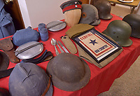 NWA Democrat-Gazette/BEN GOFF @NWABENGOFF<br /> World War I artifacts from the collection of Carlos Valdez of Bella Vista sit on display Sunday, March 19, 2017, during the annual meeting of the Bella Vista Historical Society at the Bella Vista Historical Museum. The program was held ahead of the 100th anniversary of the U.S. Congress declaring of war against the German Empire on in April 1917.