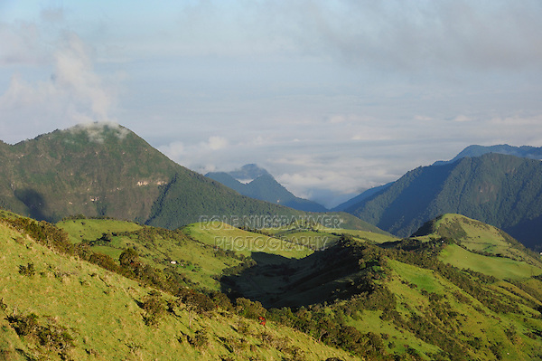 View from east slopes of Pichincha Volcano, Quito,Ecuador, Andes, South America