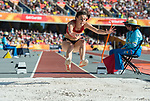 Wales Olivia Breen (para) competes in the Woman's T38 Long Jump Final <br /> <br /> *This image must be credited to Ian Cook Sportingwales and can only be used in conjunction with this event only*<br /> <br /> 21st Commonwealth Games - Athletics -  Day 4 - 08\04\2018 - Carrara Stadium  - Gold Coast City - Australia