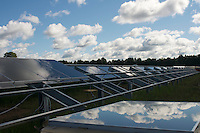 Row of Solar PAnel installation
