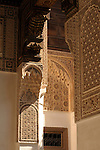 A courtyard in the Bahia Palace in Marrakesh, Morocco