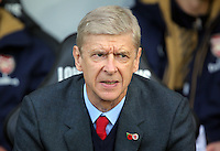 Arsenal manager Arsene Wenger prior to the Barclays Premier League match between Swansea City and Arsenal at the Liberty Stadium, Swansea on October 31st 2015