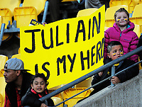 Fans in the grandstand during the Mitre 10 Cup rugby match between Wellington Lions and Northland Taniwha at Westpac Stadium in Wellington, New Zealand on Thursday, 12 October 2017. Photo: Dave Lintott / lintottphoto.co.nz
