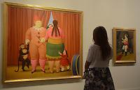 """MEDELLÍN - COLOMBIA, 30-01-2015. Con la presencia de Fernando Botero, artista Colombiano, fue inaugurada su más reciente obra """"El Circo"""" conformada por  32 óleos y 20 dibujos y estará abierta al público desde hoy 3 de febrero y el 17 de mayo de 2015 en el Mueseo de Antioquia en Medellín./ With the assistance of Fernando Botero, the Colombian artist, was launched his latest work """"The Circus"""" that consists of 32 oil paintings and 20 drawings and will be open to the public between today 3 of February and 17 of May 2015 at Antioquia Museum in Medellincity.  Photo: VizzorImage/ León Monsalve /STR"""