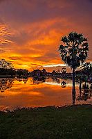 Spectacular Sunset at Angkor Wat, Siem Reap, Cambodia
