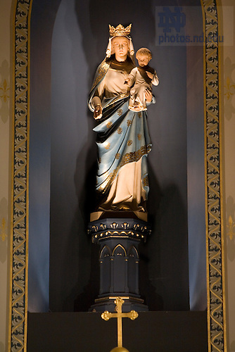 Madonna and Child statue in the Basilica