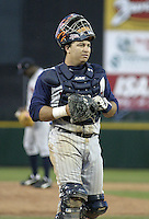 May 30, 2004:  Catcher Guillermo Rodriguez of the Toledo Mudhens during a game at Frontier Field in Rochester, NY.  The Mudhens are the Triple-A International League affiliate of the Detroit Tigers.  Photo By Mike Janes/Four Seam Images