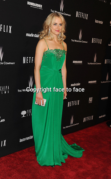 BEVERLY HILLS, CA- JANUARY 12: Actress Taylor Schilling attends The Weinstein Company &amp; Netflix 2014 Golden Globes After Party held at The Beverly Hilton Hotel on January 12, 2014 in Beverly Hills, California.<br /> Credit: Mayer/face to face<br /> - No Rights for USA, Canada and France -