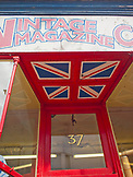 ENGLAND, Brighton,  Store Front with the Union Jack Flag