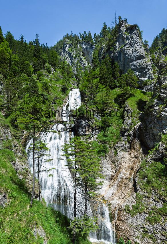 Austria, Styria, Palfau: waterfalls at Wasserlochklamm | Oesterreich, Steiermark, Palfau: Wasserlochklamm