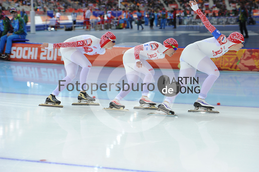 OLYMPICS: SOCHI: Adler Arena, 22-02-2014, Team Pursuit, ©photo Martin de Jong