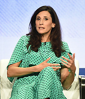 """BEVERLY HILLS - AUGUST 1: Michaela Watkins onstage during the """"The Unicorn"""" panel at the CBS portion of the Summer 2019 TCA Press Tour at the Beverly Hilton on August 1, 2019 in Los Angeles, California. (Photo by Frank Micelotta/PictureGroup)"""