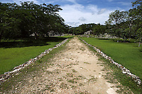 White Road or Sacbe, connecting the two main archaeological groups of the site, 300 - 1000 AD, Labna, Yucatan, Mexico. Picture by Manuel Cohen
