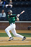 Johnny Aiello (2) of the Wake Forest Demon Deacons follows through on his swing against the Louisville Cardinals at David F. Couch Ballpark on March 17, 2018 in  Winston-Salem, North Carolina.  The Cardinals defeated the Demon Deacons 11-6.  (Brian Westerholt/Sports On Film)