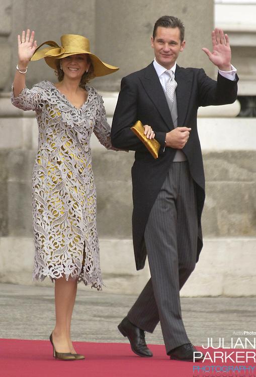 Infanta Cristina of Spain & Inaki Urdangarin attend the wedding of Crown Prince Felipe & Letizia Ortiz Rocasolano in Madrid..Picture: UK PRESS