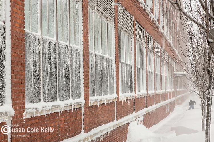Snowstorm in Boston, Massachusetts, USA