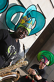 28 September 2008, Hackney/London, Hackney Carnival. Young black girl with Saxophone. (Bettina Strenske)