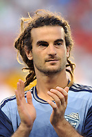Sporting Park, Kansas City, Kansas, July 31 2013:<br /> Kyle Beckerman (23) midfield MLS All-Stars .<br /> MLS All-Stars were defeated 3-1 by AS Roma at Sporting Park, Kansas City, KS in the 2013 AT & T All-Star game.