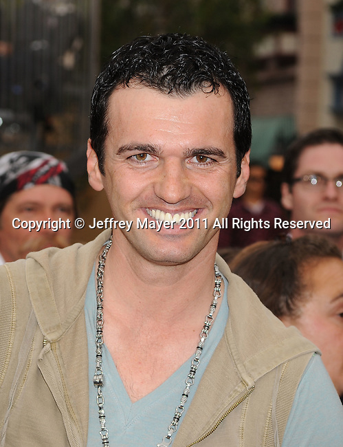 """ANAHEIM, CA - MAY 07: Tony Dovolani arrives to the """"Pirates Of The Caribbean: On Stranger Tides"""" World Premiere at Disneyland on May 7, 2011 in Anaheim, California."""